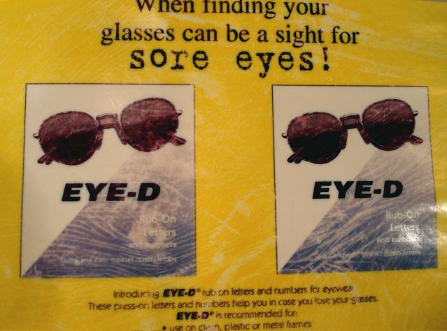 Eye-D: A product to help identify lost glasses